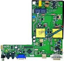HI-LEVEL - 18AT009TTV1.0, Y.M ANAKART 18AT009TT MNL, HI-Level HL40DLK0938/1022, Main Board, LSC400HN02-804