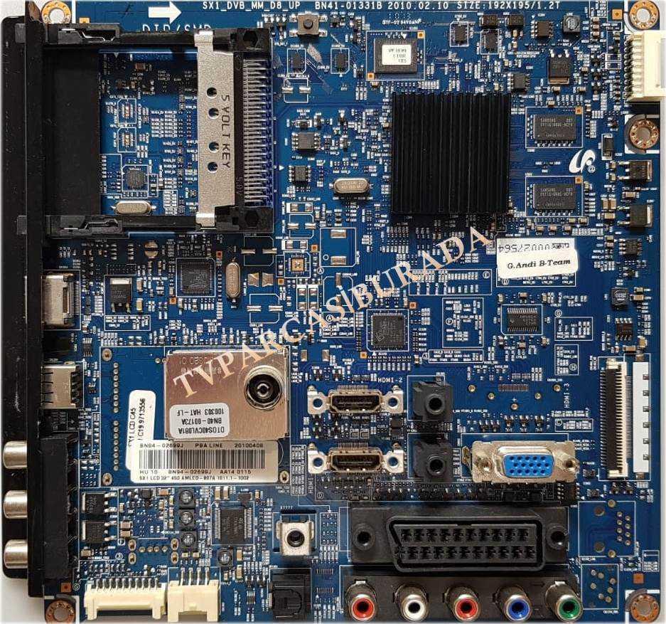 Hedendaags BN41-01331B BN94-02699J, Samsung LE32C450E1W Main Board Ana Kart BJ-97