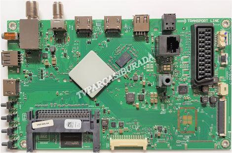 ZG7190R-7, P9PFZZ, Arçelik A43L 6652 5B, Main Board, Ana Kart, LC430DUY-SHA1, 057D43A53P